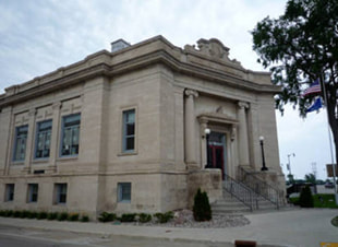 link to Stephenson Public Library Marinette page