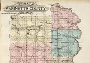 Outline map of Marinette County Wisconsin, 1912